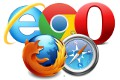 Browser-Logos: Internet Explorer, Google Chrome, Opera, Firefox, Safari